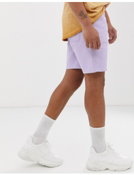 Asos Design Utility Shorts In Washed Lilac Canvas by Asos Design