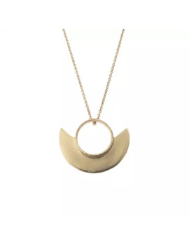Hamilton Geo Curve Brass Pendant Necklace by Olivar Bonas