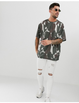 Asos Design Oversized T Shirt With All Over Camo Print by Asos Design