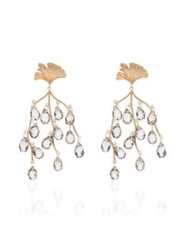 Sea Shore Leaf Drop Earrings by Apples & Figs