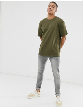 New Look Oversized T Shirt In Khaki by New Look