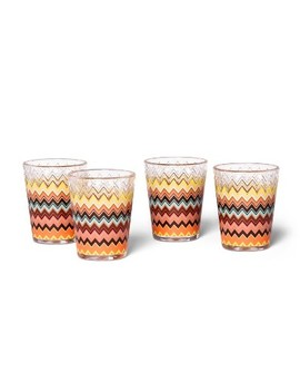 4pk 14oz Embossed Dof Tumbler Set Colore Zig Zag Print   Missoni For Target by Missoni For Target