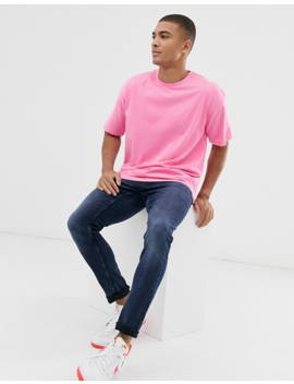 New Look Oversized T Shirt In Neon Pink by New Look