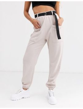 Pretty Little Thing Cargo Trousers With Pocket Detail In Grey by Pretty Little Thing