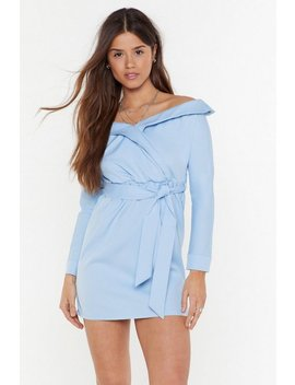 Ready For Take Off The Shoulder Mini Dress by Nasty Gal