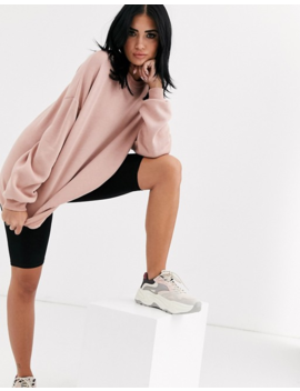 Asos Design   Sweat Shirt Oversize Ultra Doux   Rose by Asos Design