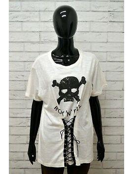 Maglia Donna Happiness Taglia Size L Maglietta Shirt Cotone Woman Polo Bianco by Ebay Seller