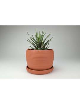 Handmade Terracotta Pot / Terra Cotta Planter / Burnt Orange Pottery / Planter With Drainage / Free Shipping To North America by Etsy