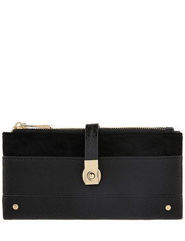 Flip Lock Double Flap Contrast Wallet by Accessorize