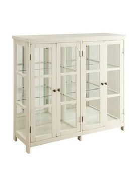 Bowery Hill 4 Door Curio Cabinet In White by Bowery Hill