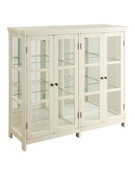 Coaster Company Transitional Style White Accent Cabinet W/ Glass Panel Doors by Coaster Company