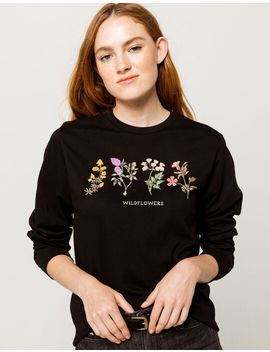 Full Tilt Wildflowers Womens Boyfriend Tee by Full Tilt