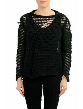 Maison Margiela 1 Black Distressed Knitted Women's Sweater Us S It 40 by Maison Margiela