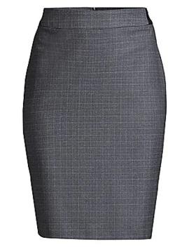 Virusa Heathered Super Stretch Virgin Wool Pencil Skirt by Boss