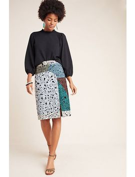 Victoire Abstract Pencil Skirt by Geisha Designs