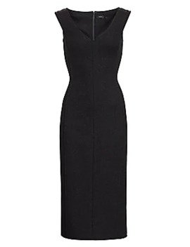 Off The Shoulder Wool Sheath Dress by Theory