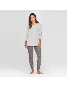 Women's Star Print Cozy Pajama Set   Stars Above Black by Stars Above Black
