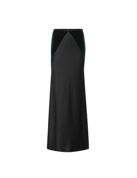 Satin And Velvet Maxi Skirt by Haider Ackermann