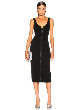 Hook And Eye Midi Dress by Mugler