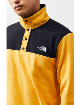 The North Face Yellow Glacier Snap Neck Pullover by Pacsun