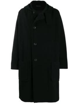 Oversized Hooded Midi Coat by Yohji Yamamoto
