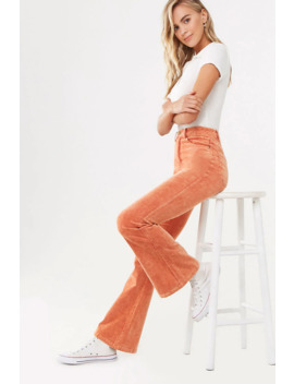 Corduroy Flare Pants by Forever 21