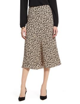 Bias Cut A Line Midi Skirt by Halogen®