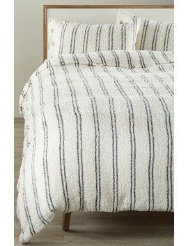 Cozy Chic® Vertical Stripe Duvet Cover & Shams by Barefoot Dreams®