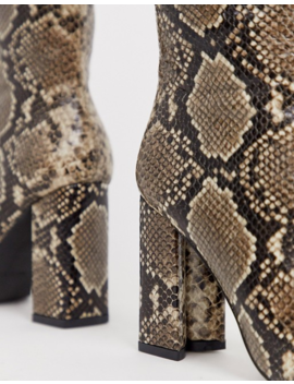 Raid – Sloan – Overknee Stiefel Mit Schlangenhautmuster by Asos