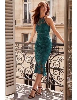 Lipsy Lace Halter Bodycon Dress by Next