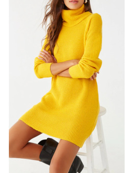 Honeycomb Knit Sweater Dress by Forever 21