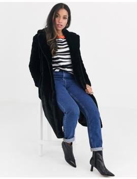 Vila Petite Long Line Faux Fur Coat by Vila