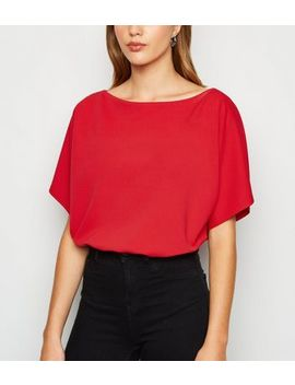 Red Batwing Bodysuit by New Look