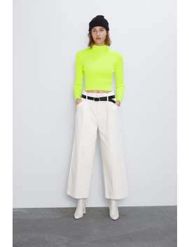 Neon High Neck Sweater  Leggings Trousers Woman by Zara
