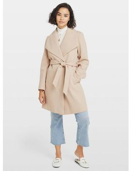 Petite Nude Wrap Coat by Miss Selfridge