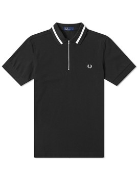 Fred Perry Authentic Vinyl Tipped Zip Polo by Fred Perry