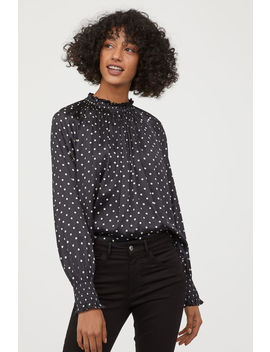 Ruffle Collar Wide Cut Blouse by H&M