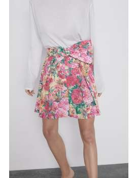 Floral Print Mini Skirt View All Skirts Woman by Zara