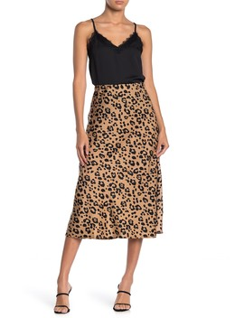 Leopard Print Midi Skirt by Codexmode