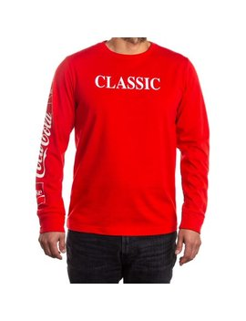 Coca Cola Coke Licensed Men's Long Sleeve Graphic Tee, Up To Size 3 Xl by Coca Cola