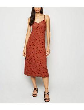 Rush Spot Midi Slip Dress by New Look