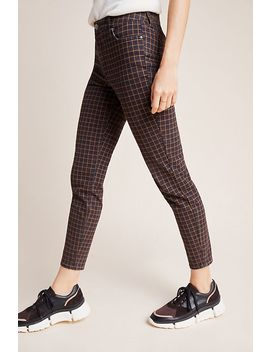 Ella Moss The High Rise Plaid Skinny Ankle Jeans by Ella Moss