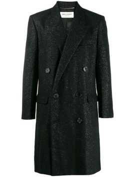 Spangled Tweed Coat by Saint Laurent