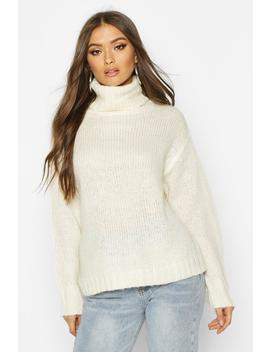 Oversized Roll Neck Jumper by Boohoo