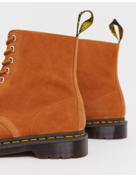 Dr Martens 1460 Pascal 8 Eye Boot Tan Suede by Dr Martens