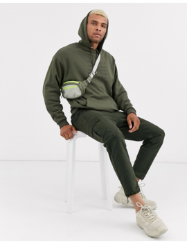 Asos Design Oversized Hoodie In Khaki With San Francisco Text Print by Asos Design