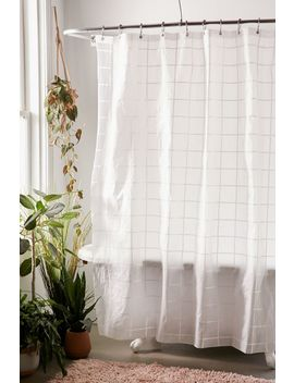 Grid Peva Shower Curtain by Urban Outfitters