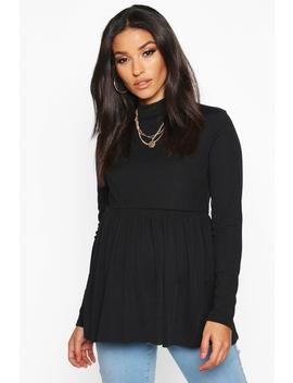 Maternity High Neck Smock Top by Boohoo