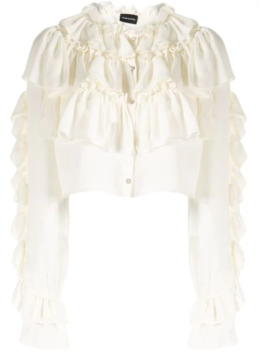 New Romantic Cropped Blouse by Magda Butrym