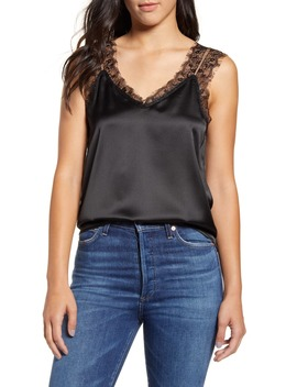 Lace Panel Tank Top by Press